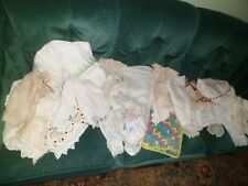 Vintage Linens Lot of 50 Doilies Lace Embroidery Runners Table Crochet Antique