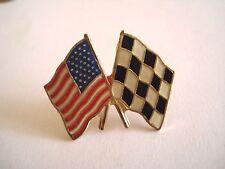 PINS RARE VINTAGE SPORT DRAPEAU USA TOP DEPART COURSE F1 USA FLAG CAR wxc 32