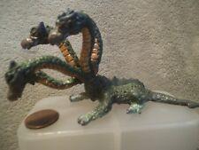 Vintage Pewter 5 Headed Hydra Dragon Serpent Figure Statue