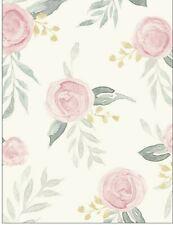 Magnolia Home Psw1010Rl Watercolor Roses Pink Peel and Stick WallpaperJoanna