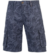 SOULCAL&CO Floral Cargo Shorts Mens Navy Size UK XXL *REF149