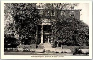 "Hamlet, North Carolina Postcard ""HAMLET HOSPITAL"" Building View Graycraft c1940s"