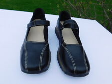 ANNE KLEIN LADIES BLACK LEATHER MARY JANE SHOES SIZE 8 M