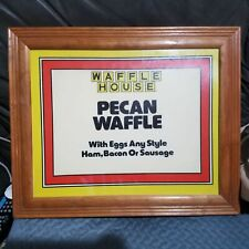 RARE Waffle House sign Framed Man Cave Pecan Waffle HAM BACON Egg Sausage B-fast