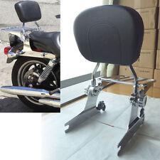 Detachable Backrest Sissy Bar+Flat Luggage Rack For Harley Softail 200mm 06-UP
