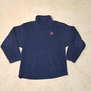 VINTAGE Adidas Sweater Women Medium Blue Navy Orange Cotton  Athletic Gym Ladies