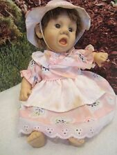 """kissable cuddly 8"""" cloth body yelling gi go expressions baby doll"""