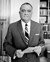 J. EDGAR HOOVER IN 1961 FORMER FBI DIRECTOR - 8X10 PHOTO (AA-994)