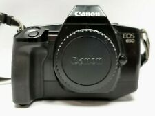 CANON EOS 650 Classic Vintage 35mm Film SLR Camera Body + Strap Only in Black