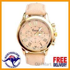 Luxury Gold Roman Women Numerals Leather Analog Quartz Wristwatch 2017 Hot Gift