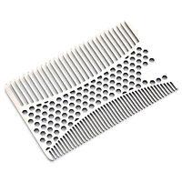 Stainless Steel Beard Comb Multi Function Mustache Hair Care Travel Brush