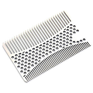 Stainless Steel Beard Mustache Hair Care Comb Shaping Shaving Wallet Size Kit