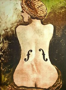 Man Ray, Ingres's Violin, Hand Signed Lithograph
