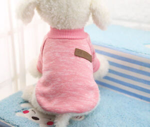 L Pink Pet Coat Dog Jacket Winter Clothes Puppy Cat Sweater Clothing Apparel