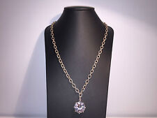 Nuevo - Collar Necklace DEMARIA - Plata & Cristal - Silver & Crystal