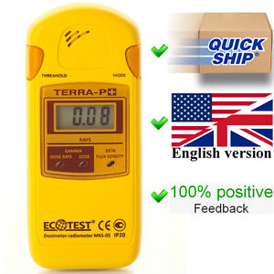 NEW Terra-P+ Plus Ecotest Dosimeter Radiometer Geiger Counter Radiation Detector