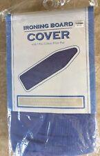 "BBB Homz Ironing Board Cover & 1/8"" Fiber Pad 15W"" x 54L"", Solid Blue"