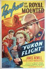 Yukon Flight 1940 Original Movie Poster James Newill Louise Stanley Renfrew