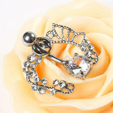 Butterfly Shield Shape Belly Bars Body Piercing Belly Button Ring Navel Bar DT
