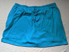 Woman Within Skort with Drawstring Tie 2X blue