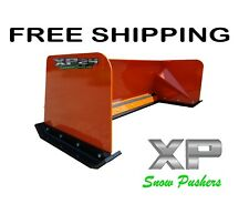 7' Xp24 Orange snow pusher box Free Shipping skid steer Bobcat Case Kubota
