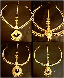 South Indian 22K Gold Plated Wedding Variations Different Pakistani Maang Tikka