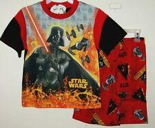 Star Wars Darth Vader Summer Pajamas Set Size 8 or 10 Too Cool !!  NWT