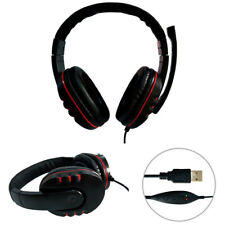 USB Stereo PC Gaming Headset Headphones With Microphone Laptop Noise Cancelling