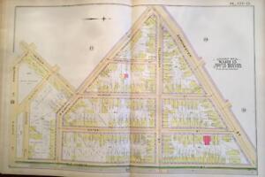 1891 SOUTH BOSTON MASSACHUSETTS DORCHESTER ST - OLD HARBOR ST E 9 ST  ATLAS MAP