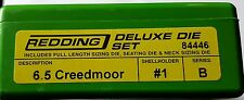 84446 REDDING 3-DIE DELUXE (FULL LENGTH/NECK) DIE SET - 6.5 CREEDMOOR  BRAND NEW