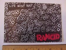 "Rancid ""Life Wont Won'T Wait"" Peel-Off Sticker"