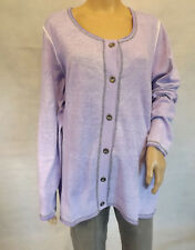 ★ ULLA POPKEN ★  42+ 42/44 Strickjacke Cardigan Strickweste flieder  oil washed