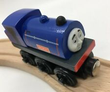 Thomas Wooden Railway Wilbert 2002 MINT!! Vintage Train Set Engine Car Blue Face