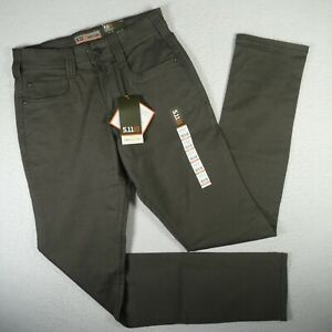 NWT 5.11 Tactical Pants Mens 28x36 Olive Green Flex Slim Fit Concealed Carry