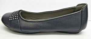 Comfortiva Size 8.5 Black Leather Flats New Womens Shoes