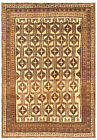 """Vintage Hand-Knotted Carpet 5'10"""" x 9'0"""" Traditional Oriental Wool Area Rug"""