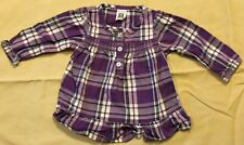 Carter's baby girl plaid top 9 mos.