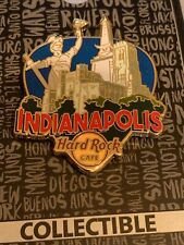HARD ROCK CAFE INDIANAPOLIS CITY GREETINGS FROM GUITAR PICK PIN CLOSED LOCATION