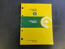 John Deere 410 and 420 Loaders Operator's Manual  OMW44978 E8