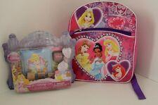 "Disney Princess 12"" Toddler Backpack W/ Stamp & Stationary Card Making Set NWT"