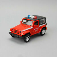 1:42 2014 Jeep Wrangler SUV Fire Engine Model Car Diecast Toy Pull Back Red Kids