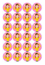 24 EMMA WIGGLE WIGGLES EDIBLE 4CMS CUPCAKE CUP CAKE TOPPERS DECORATION IMAGES