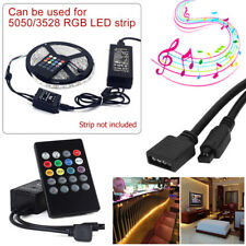 5050 RGB LED Strip Light Dimmable Sound Activated Music Color Change Kit UK