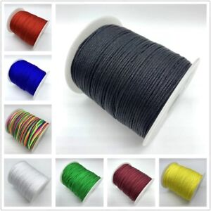 10Yards 0.5mm Black Nylon Cord Rope Thread Strap Making Beading Necklace Jewelry