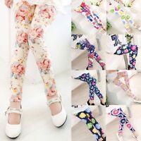 Clothing Cotton Elastic Flower Printed Floral Baby Pants Kids Girl Leggings