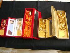 VALENTINE'S ROMANTIC GIFT Natural Rose Dipped in 24K Gold  - HANDCRAFTED BOX NEW