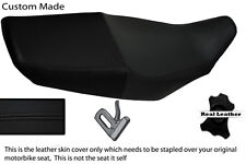 BLACK CUSTOM 89-00 FITS SUZUKI GS 500 REAL LEATHER SEAT COVER