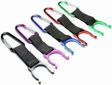 Water Bottle Clip Carabiner Rucksack Belt Hydration Pack Strap Holder Black