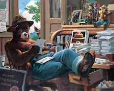 SMOKEY THE BEAR Reading Mail Letter Poster Photo 11x14