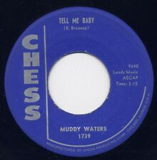 """MUDDY WATERS - """"TELL ME BABY"""" b/w """"RECIPE FOR LOVE"""" on CHESS (VG++)"""